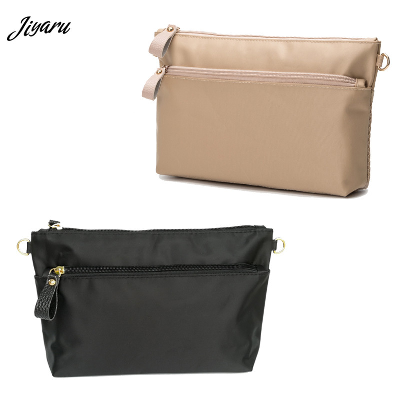 Women Cosmetic Bag Women Insert Organizer Travel Pocket Heighten Style Tote Storage Bag Casual Cosmetic Bag In Bag Inside Hook