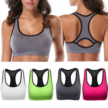 Probra Sports Bra Women Running Yoga Bra Push Up Sports Bras Top Athletic Vest Yoga Top Padded Brassiere High Impact Sport Top