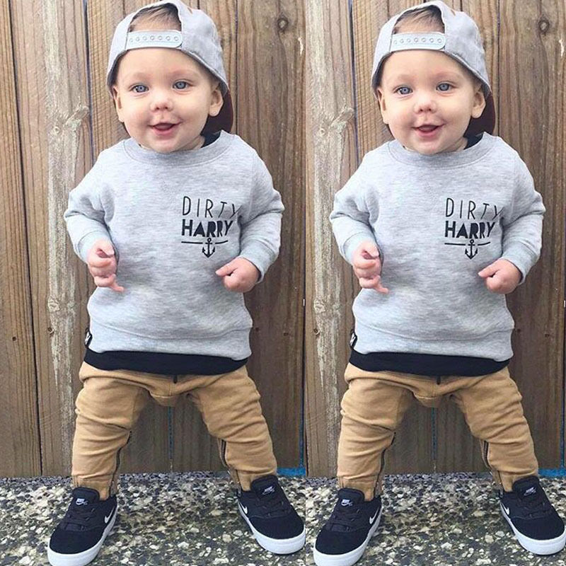 e6b2e9140dff6 2pcs Newborn Toddler Kids Baby Boys Clothes Set Tops Hoodie Warm + Long  Pants Casual Hoodies Baby Outfits Set Autumn Winter-in Clothing Sets from  Mother ...