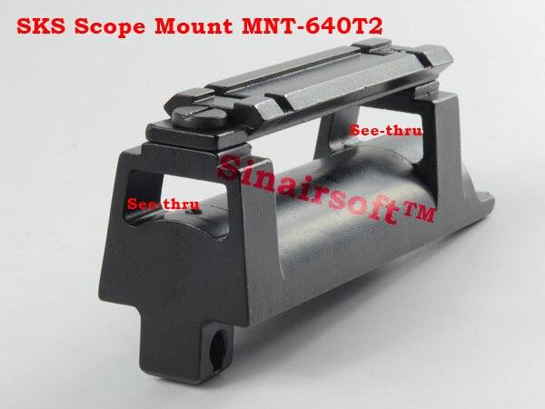barska scope sks rifle mount base waever 20mm rail replaces rear