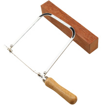 "1PC 5"" U-type Self-Tensioned Wooden Handle Curved Coping Saw with 3pcs Blades(China)"