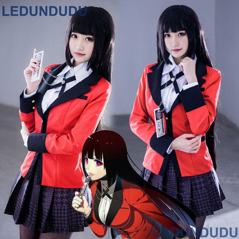 Kakegurui-Compulsive Gambler Yumeko Jabami Mary Saotome Uniform Cosplay Costume