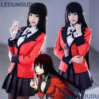 Compulsive Gambler Kakegurui Women Jabami Yumeko School JK Uniform Clothes Saotome Mary Cosplay Costumes with Necklace
