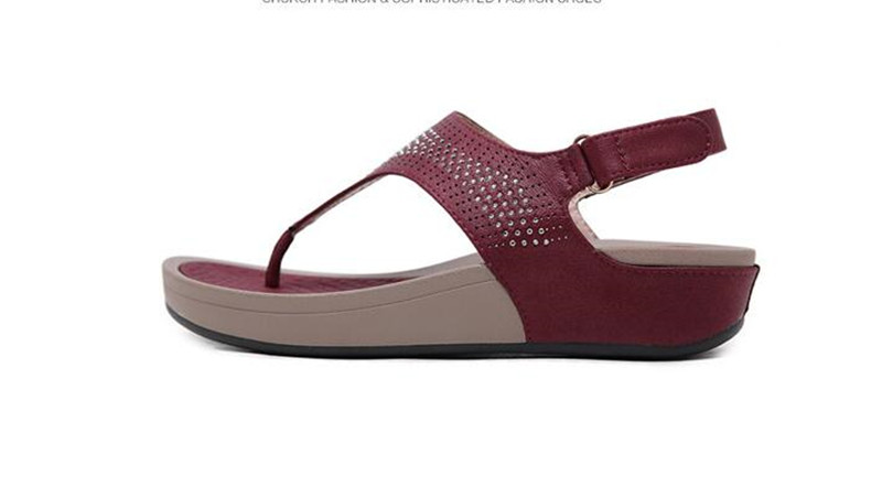 HTB17Xc6bffsK1RjSszbq6AqBXXam TIMETANGNew Summer Wedge Rhinestone Women Sandals Open Toe Gladiator Sandals Women Casual Women Platform Sandals Beach flipflops