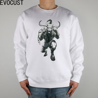 Freedom Fighting MMA Muay Thai Sanda Wild Wildebee Men Sweatshirts Thick Combed Cotton