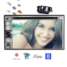 2 din Android 7.1 Car DVD Player GPS Navigation WiFi Autoradio Bluetooth Radio Touch Screen Stereo Video Audio Free Back Camera