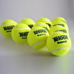 Брендовый качественный теннисный мяч для тренировок, 100% синтетическое волокно, хороший резиновый стандартный теннисный мяч, 1 шт., низкая це...