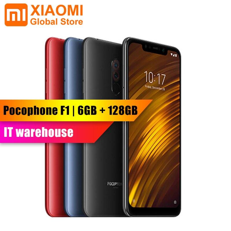 Version mondiale-Xiaomi POCOPHONE F1 POCO F1 6 GB 128 GB Snapdragon 845 Octa core 6.18