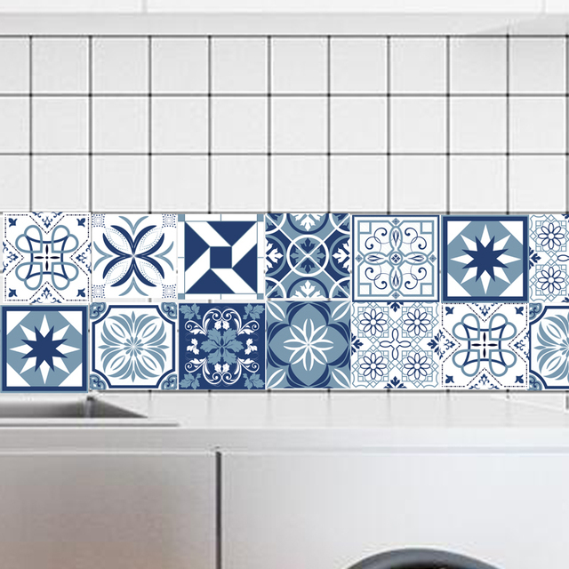 retro kitchen tile stickers removable wall tiles tile design ideas 4821