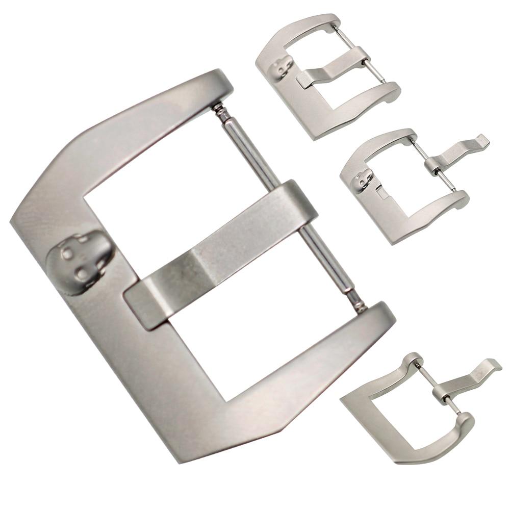 ZLIMSN Skull Buckle Edelstahlverschluss 22 24mm Silber Armband - Uhrenzubehör - Foto 4