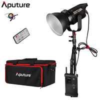 Aputure Light Storm COB 120t CRI97+ 3000K 135W Bowens Mount LED Continuous Video Light with 2.4G Wireless Remote V Mount Plate