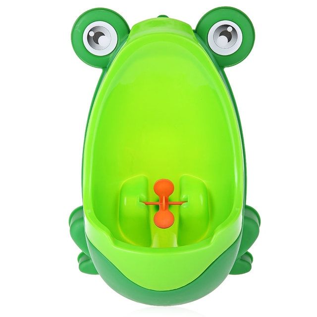 Animal Cute Boy's Portable Potty Urinal Standing Toilet Penico Frog Shape Vertical Wall-Mounted Pee Boy Bathroom Urinal Closet Baby Care