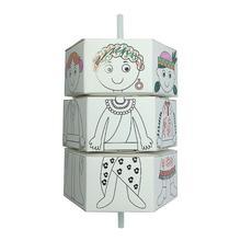 Деревянная головоломка для детей DIY цвет вращения изменить одежда бумага куклы наборы игрушечные лошадки творческий ручной работы Творческие подарки для