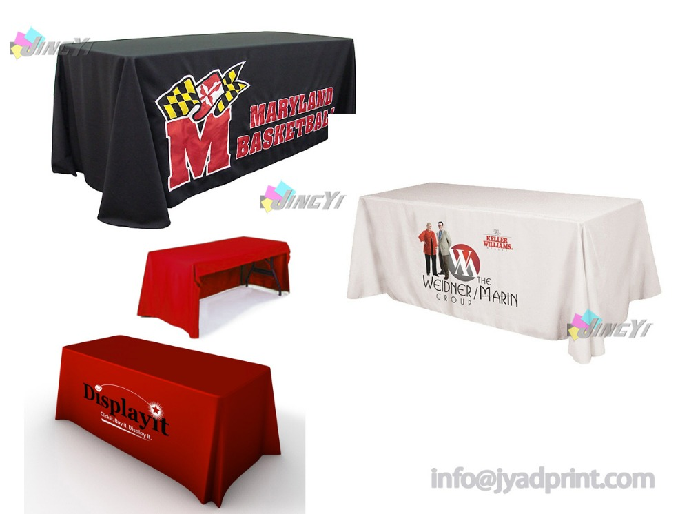 6 Economy Table Throw, Open Back Table Cover, Printed Full Color Dye Sublimation Table