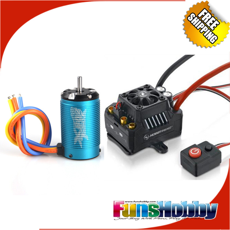 Tenshock X802V2 6 Pole Brushless Motor Hobbywing EzRun MAX10 120A SCT Waterproof Brushless ESC for 1
