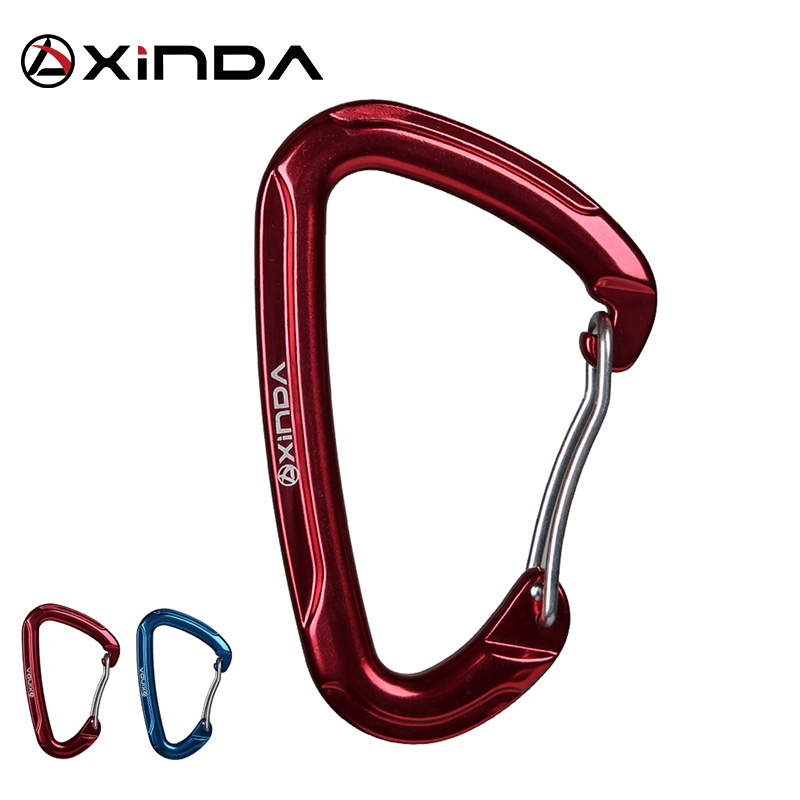 XINDA Top Quality Professional 5200 Load Tension Rock Climbing Lock Wire Gate Extenders Portable Carabiner Outdoor Sports|sport outdoor|sport sport|sports climbing - title=