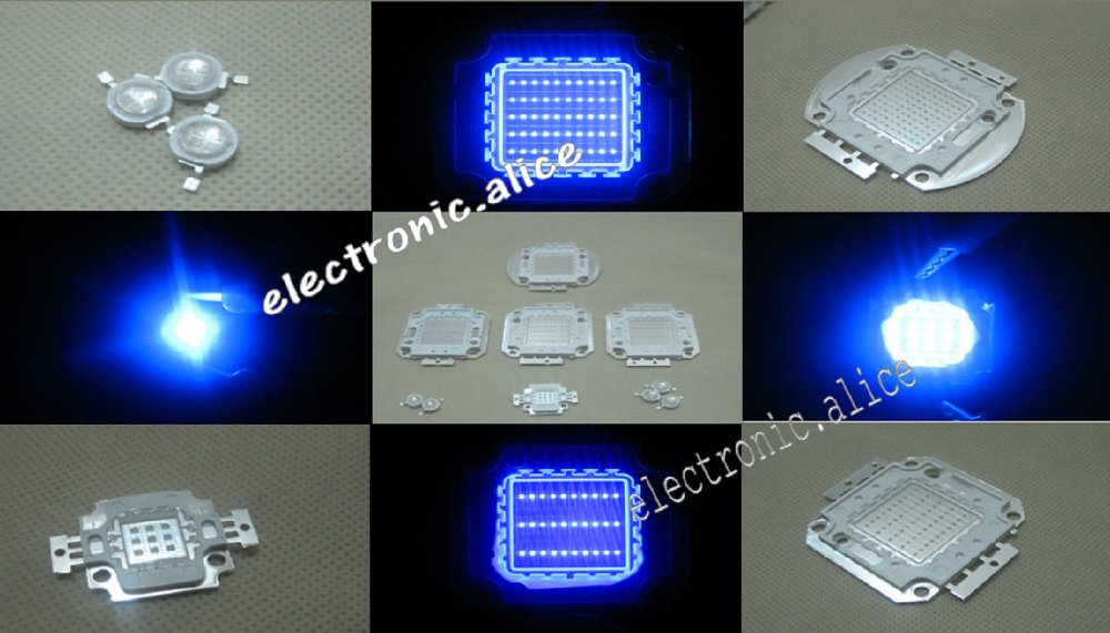 1W 5W 10W 20W 30W 50W 100W Blue High Power <font><b>LED</b></font> Light SMD chip <font><b>460nm</b></font> Aquarium DIY New image