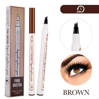 4 Colors 4 Head Henna Eyebrow Pencil Microblading Eye Brow Pen For Brwi Eyebrows Shades Makeup Cosmetics Sourcil Eyebrow Tatto Pencil Eyebrow Henna Makeup Tools