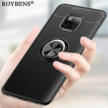 Phone Case For Huawei Mate 20 Pro Magnetic Car Holder Case Bracket Ring Hide Stand Cover Mate20 Soft TPU Silicone Slim Fundas(China)