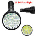 For Hunting Torch flashlight XML-24 x T6 LED 40000 lumens power 5Modes Glare flashlight Torch lamp floodlight accent light