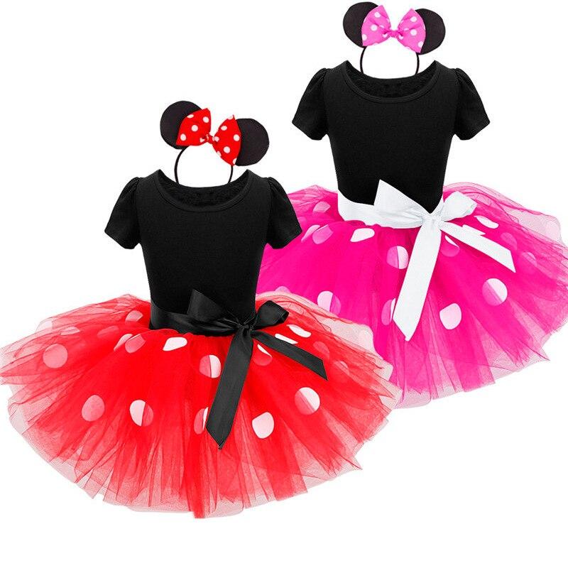 Crianças Bebê Meninas Minnie Mouse Vestido Tutu com Headband Ear ...