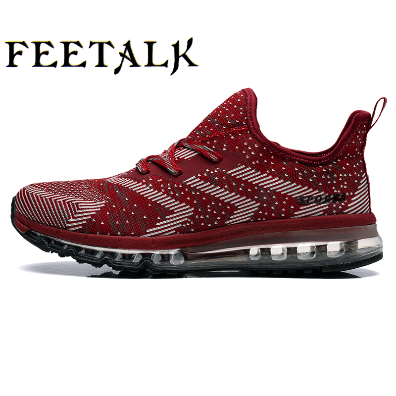 Feetalk New Summer Sports air n shoes Running Shoes For Men & Women Breathable MensAthletic Sneakers Krasovki zapatillas