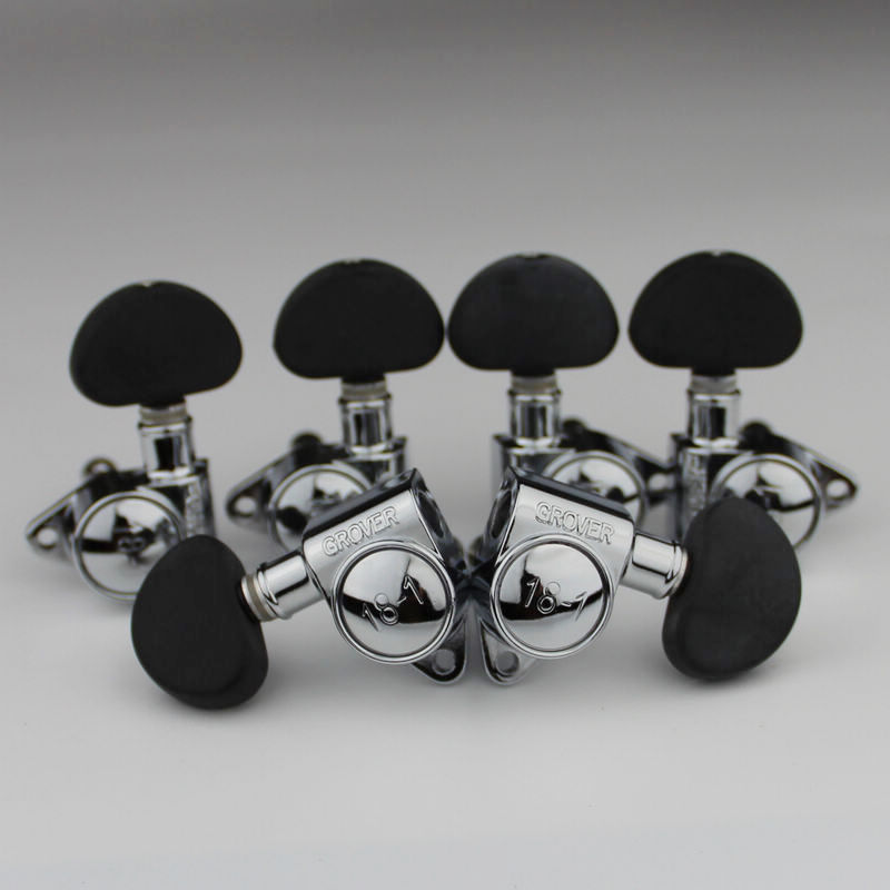 Grover Electric Guitar Machine Heads Tuners 3R3L Chrome 18-1 Tuning Pegs Black ABS handle learning chinese with me an integrated course book chinese character mandarin textbook