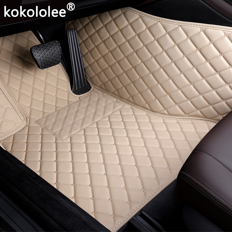 Car Floor Mats For Ford Focus Edge Escort F150 Mondeo Fiesta Explorer Taurus S-MAX Everest Mustang Custom Accessorie Foot Mats(China)