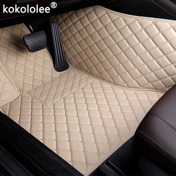 Car Floor Mats For Ford Focus Edge Escort F150 Mondeo Fiesta Explorer Taurus S-MAX Everest Mustang Custom accessorie foot mats image