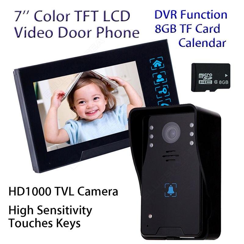 Free shipping 7 LCD TFT Video font b Door b font Phone Doorbell Intercom Monitor IR