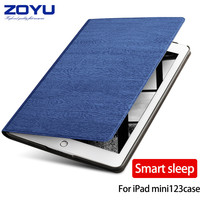 Zoyu Leather Case Fold Stand Magnetic Flip Tablets Cover For IPad Mini 2 Case For Ipad