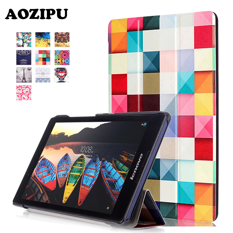 Colorful Print PU Leather Case Flip Protective Cover For Lenovo Tab3 Tab 3 8(TB3-850M/F) & Tab2 Tab 2 A8-50 Universal Funda free shipping new original laser jet