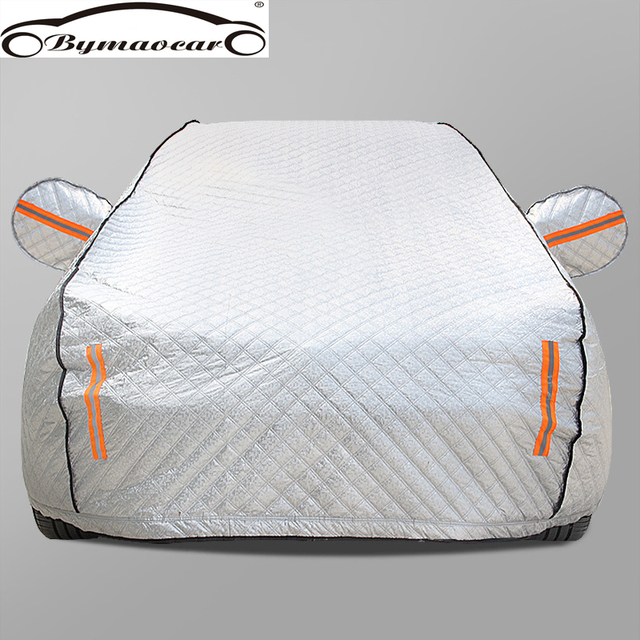 Car cover Four seasons aluminum film plus cotton padded car cover winter windshield car cover hail  /weatherproof/sun/snow