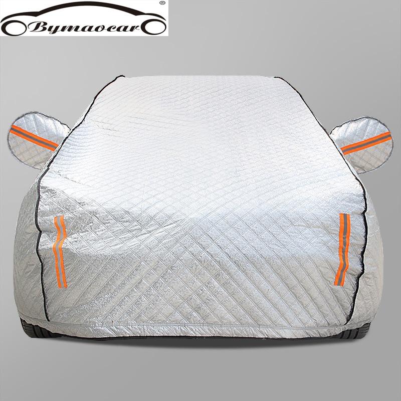 Cubierta de coche cuatro estaciones película de aluminio más algodón acolchado cubierta de coche invierno parabrisas cubierta de coche granizo/resistente a la intemperie/SOL/nieve