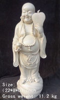55.9 cm * / Elaborate Chinese Dehua white porcelain laughing Buddha statue