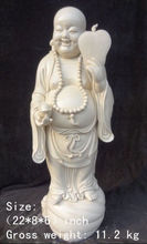 55.9 cm * / Chinese dehua white porcelain maxim laughing Buddha statue