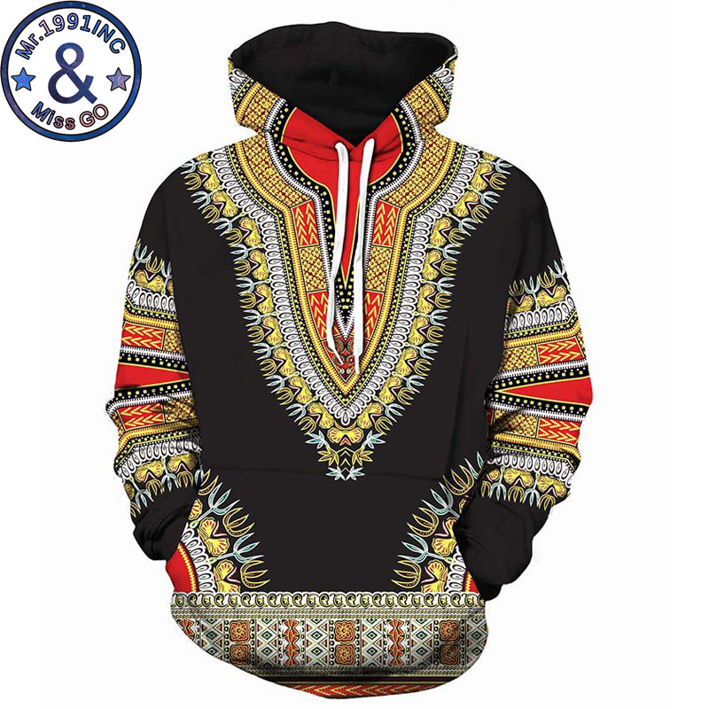 Black 3D Hoodies Sweatshirts Men Women African Dashiki Print Hooded Sweatshirt Men Hip Hop Streetwear Hoodie Tracksuit Male 5XL