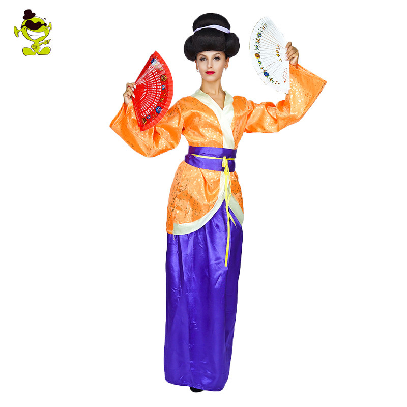 Ancient Geisha Costume Traditional Chinese Garments Women Tang Suit Female Fancy Sheongsam Han Clothing Outfits