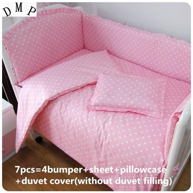 6/7pcs Free Shipping Baby Bedding Pieces Set Baby Bedding Protetor De Berco  Customize ,120*60/120*70cm