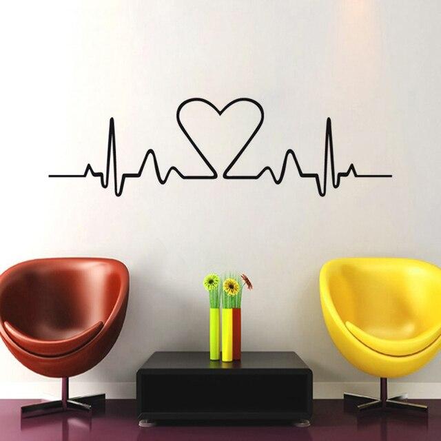 Dégagement Amour Battement De Coeur Vinyle Art Bricolage