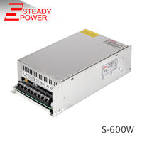 HOT SELL!! (S 600 24) low noise Industrial 600watt Single output power supply 600w 24V 25A led psu
