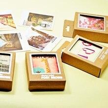 Друзей счастливая поздравительные жизнь стилей подарочные открытки mini карты стиль мультфильм