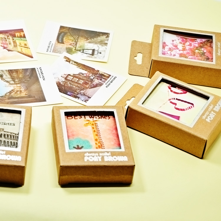 40pcs/lot Cassette Mini Greeting Cards Happy Life Style Cartoon DIY Cards Gift Cards Postcard for Friends 8 Styles