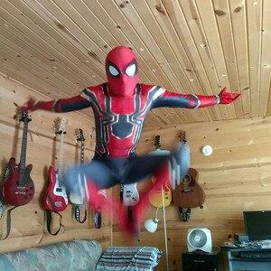 Image 3 - Dzieci Spiderman Homecoming Cosplay kostiumy Iron Spiderman kostium daleko od odzież domowa kombinezony