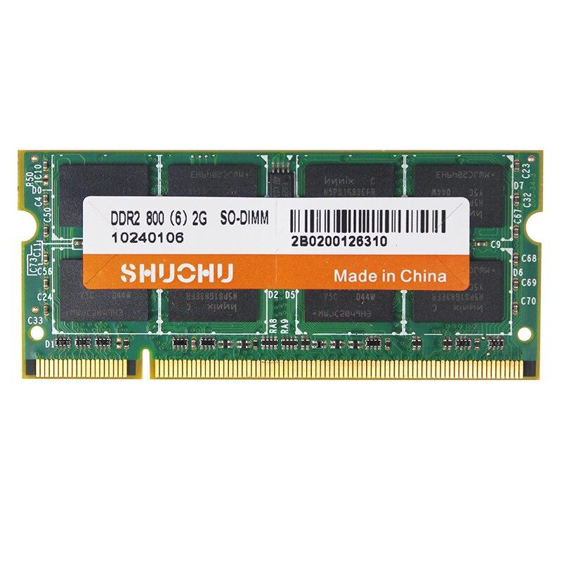 Lifetime warranty Original RAM DDR2 2GB 2PCSX2G for intel DDR2 RAM 2GB 4GB 6400S SODIMM laptop notebook computer DDR2 memory