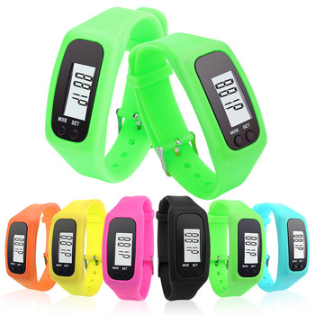 Sports Pedometer Running Step Counter Walking Distance Calorie Digital Tracker LCD Fitness Watch Bracelet