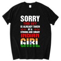 Mùa hè Ấn Độ cờ tshirt vui men t shirt anh chàng này là đã lấy một ấn độ cô gái người đàn ông t-shirt birthday xmas quà tặng cho anh ta tops
