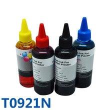 4 х 100 мл t0921n краситель заправка чернила для принтера epson stylus t26//t27/tx117/tx119/tx106/tx109/cx4300/c91 принтер чернила и снпч