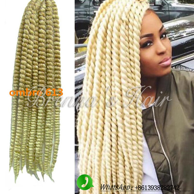 Ombre Synthetic Braiding Hair 27613 Two Tone Blonde 613 Crochet