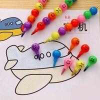 7 colores/Uds. Bolígrafo de grafiti con expresión de caramelo creativo de colores Pastel de crayones Kawaii para niños suministros de pintura de dibujo papelería bonita|Crayones|Suministros para oficina y escuela -